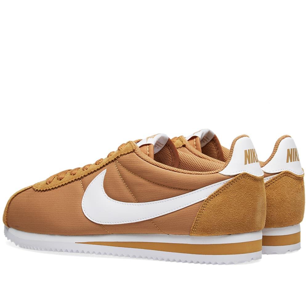 Nike Classic Cortez Nylon - Muted Bronze & White
