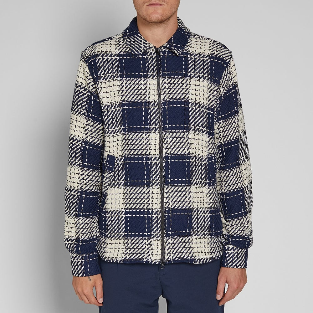 Soulland MAPP Zip Shirt Jacket - Navy & White