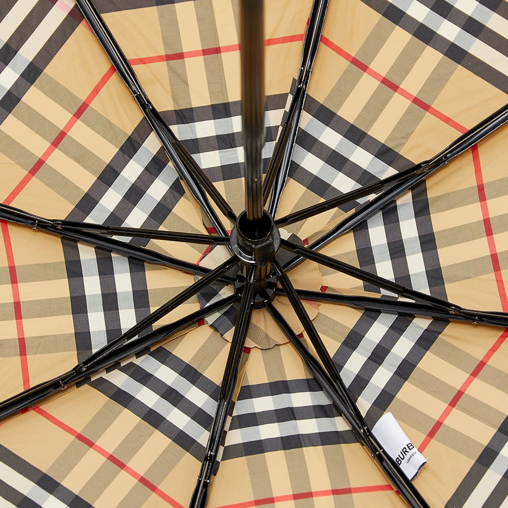 Burberry Trafalgar Check Folding Umbrella - Archive Beige