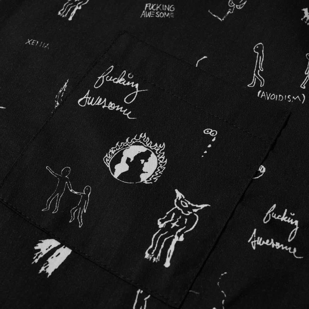 Fucking Awesome Dill Drawings Club Shirt - Black