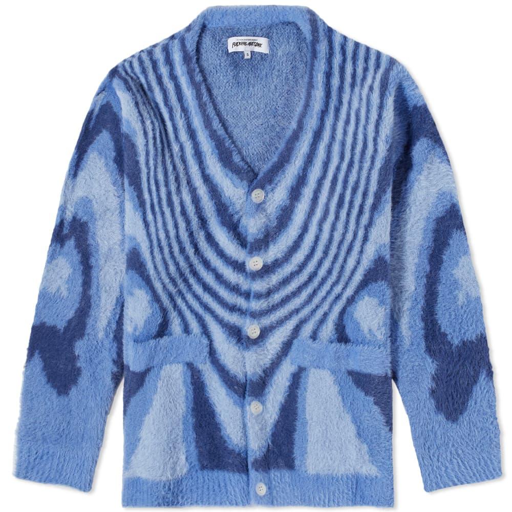 Fucking Awesome Acid Hairy Cardigan - Blue