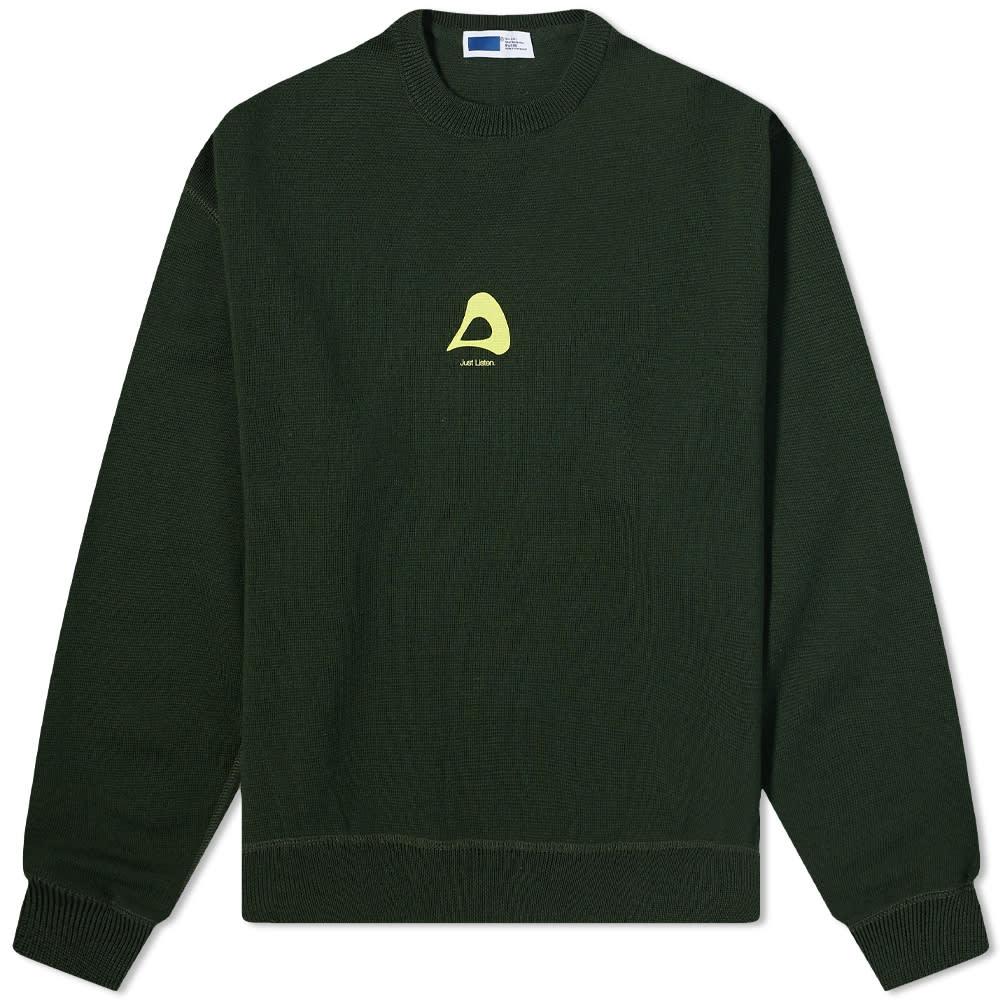 AFFIX Audial Logo Crew Knit - Rosin Green