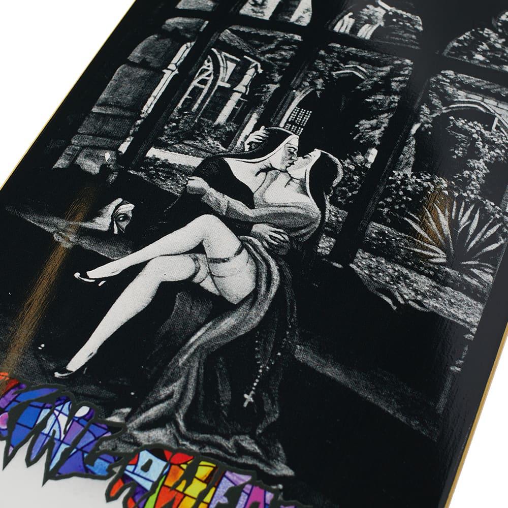 """Fucking Awesome Elijah Berle No Priests Deck - 8.5"""" - Black & White"""