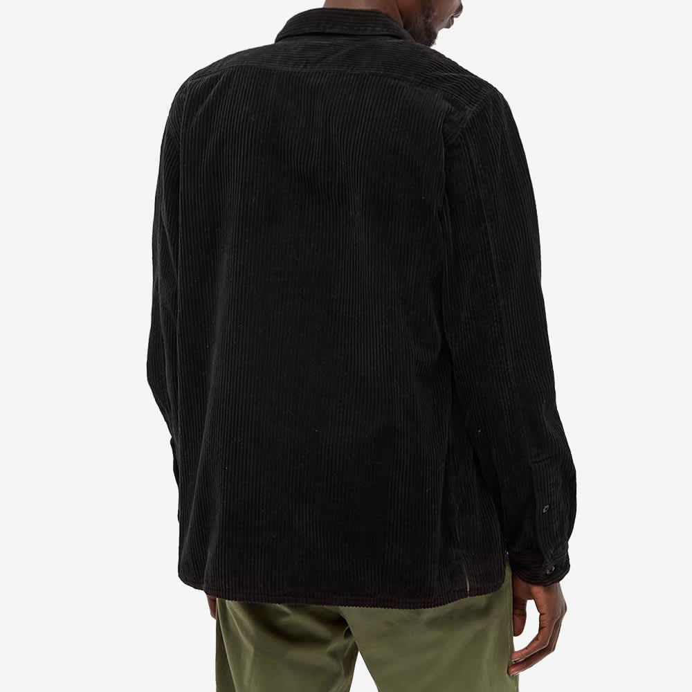 Stone Island Compass Sleeve Cord Shirt - Black