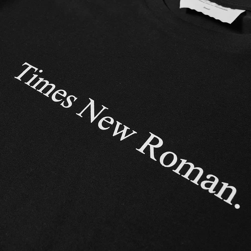Times New Roman Classic Logo Organic Tee - Black