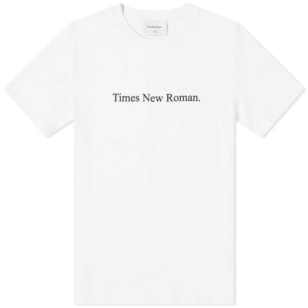 Times New Roman Classic Logo Organic Tee - White
