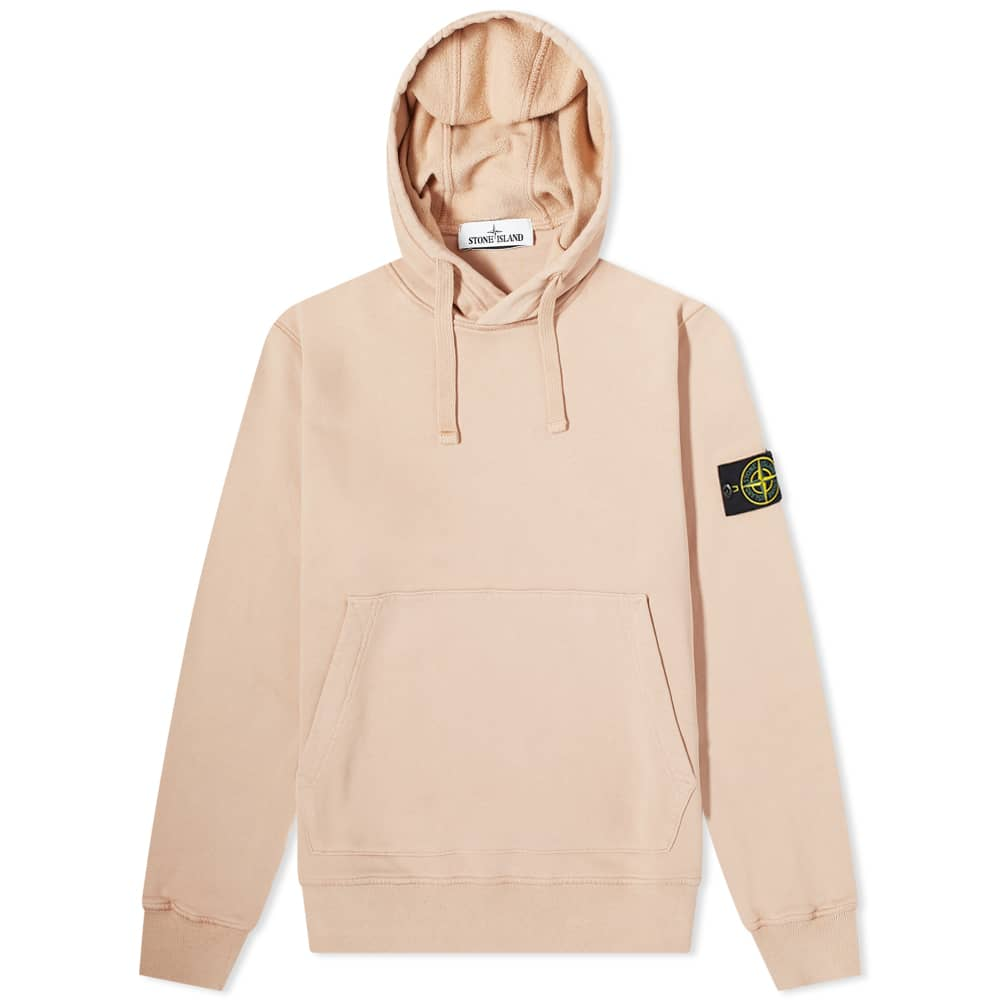 Stone Island Garment Dyed Popover Hoody - Antique Rose