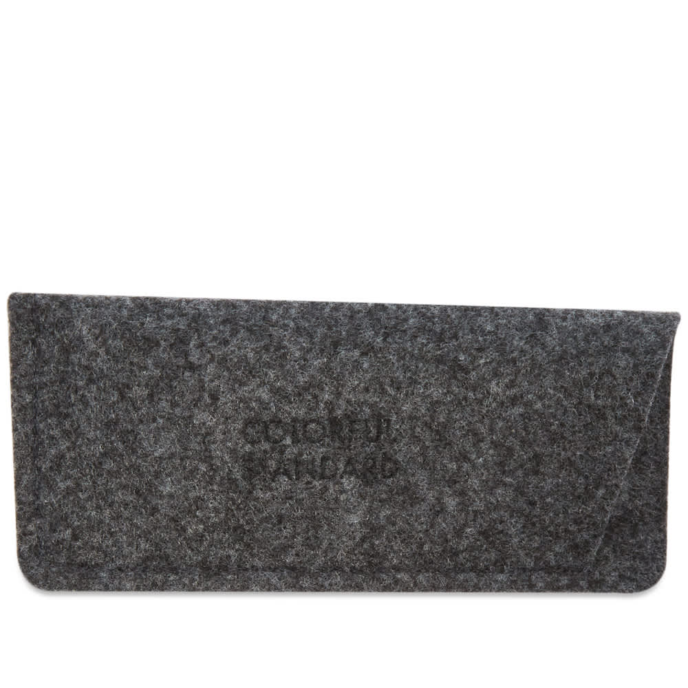 Colorful Standard Sunglass 04 - Deep Black Solid & Lavender
