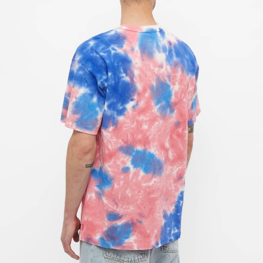 Nike Tie Dye Tee - White, Red & Signal Blue
