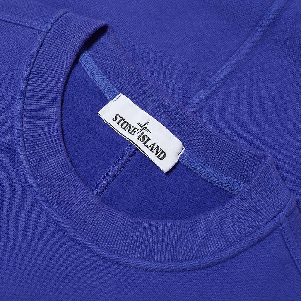 Stone Island Pocket Detail Crew Sweat - Bright Blue