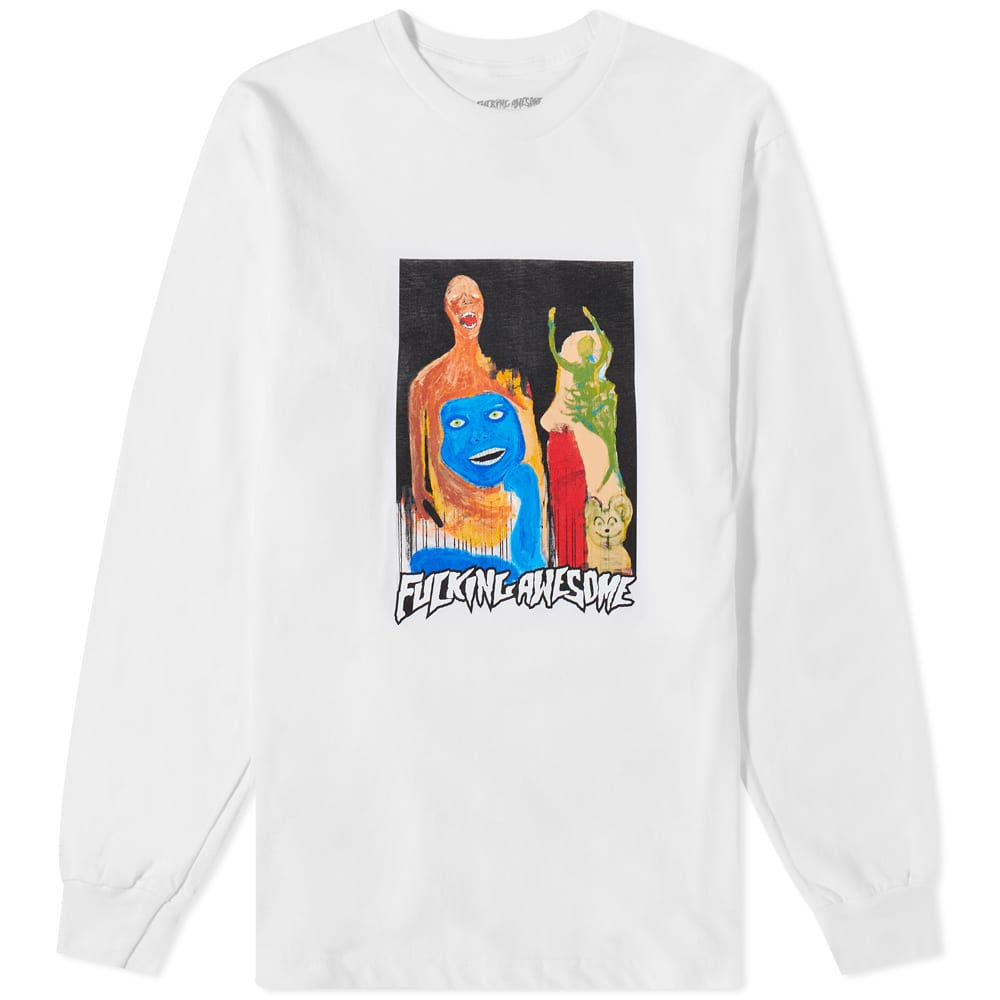 Fucking Awesome Long Sleeve Dill Collage II Tee - White