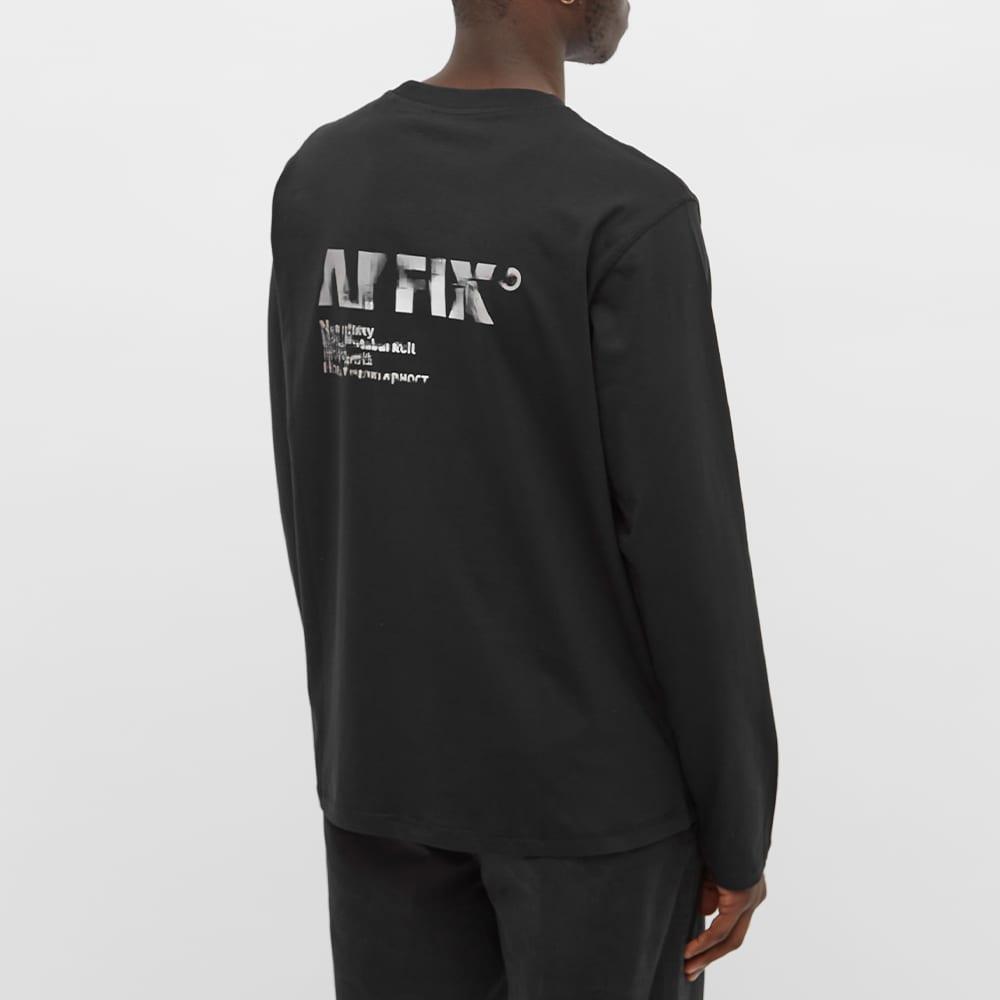 AFFIX Long Sleeve A.I. Standardised Logo Tee - Black