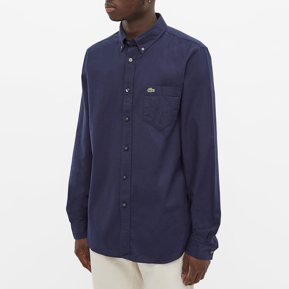 Lacoste Button Down Oxford Shirt - Navy