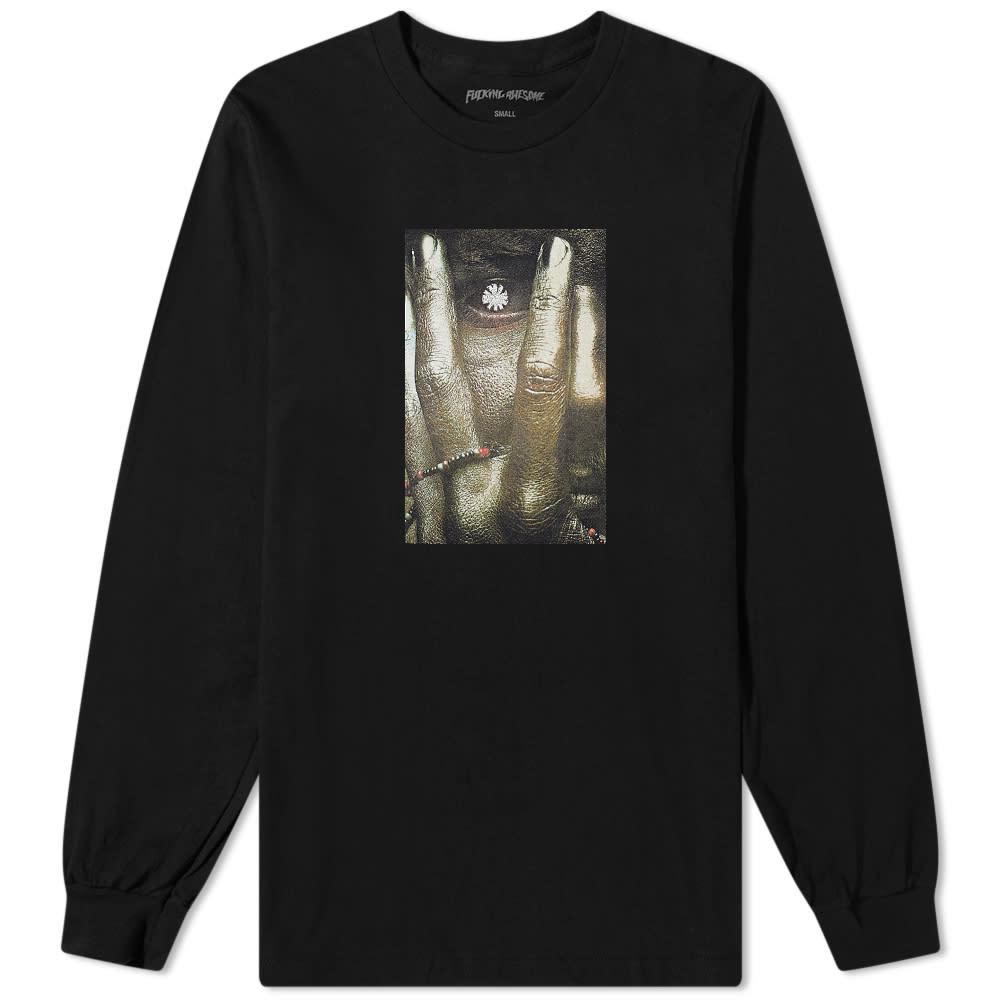 Fucking Awesome Long Sleeve Labyrinth Tee - Black