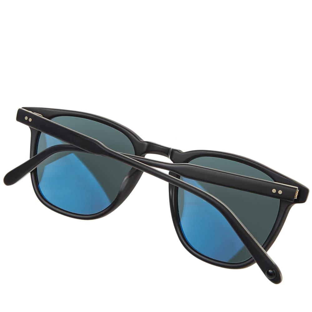 Garrett Leight Brooks Sunglasses - Matte Black & Blue Smoke