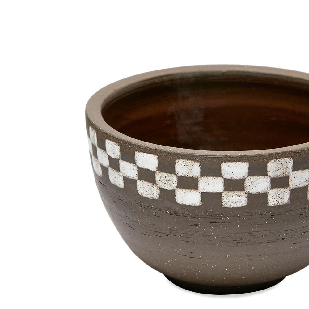 Mellow Ceramics Incense Bowl - Medium - Half Check Brown