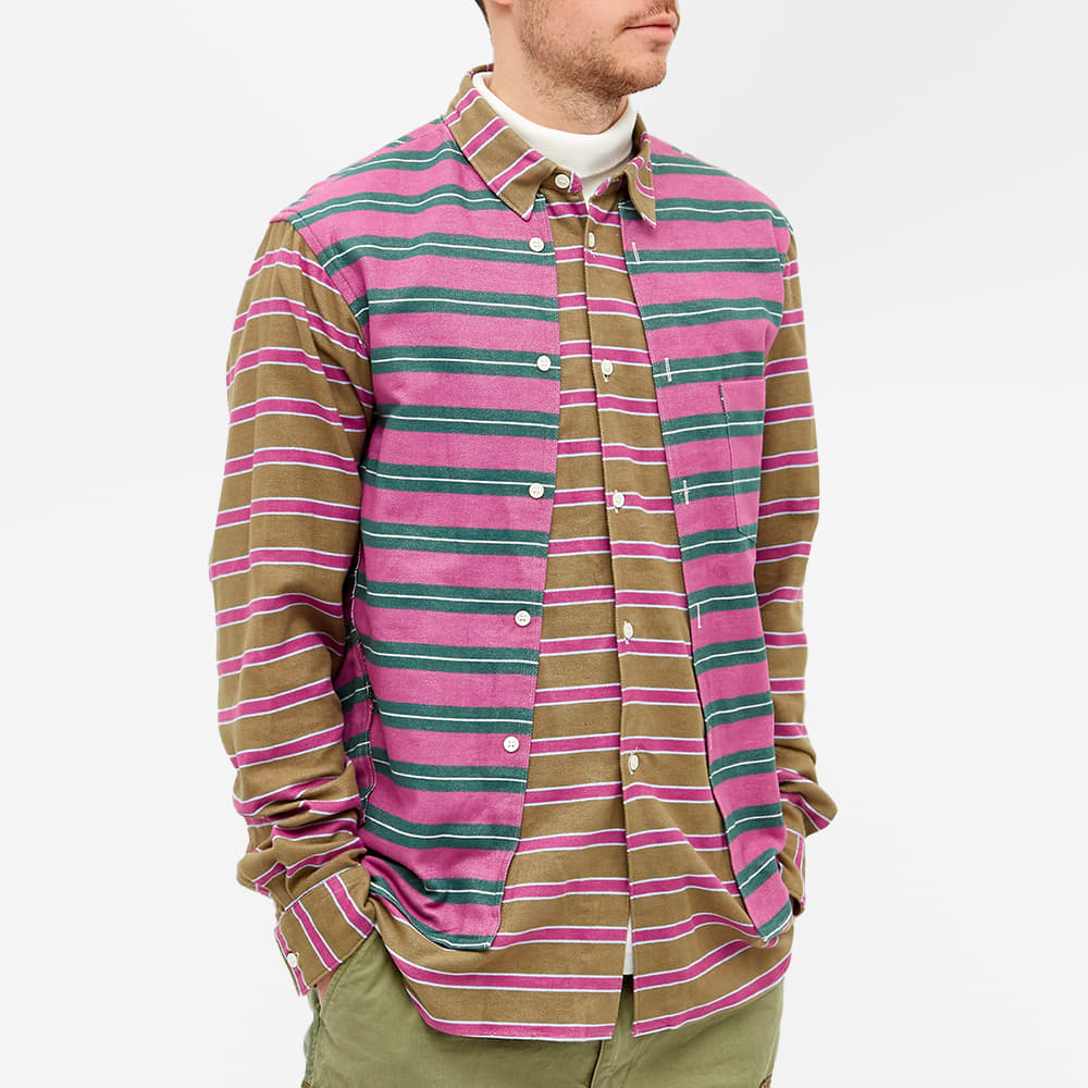 Comme des Garcons Homme Plus Double Layer Shirt - Green, Pink & White