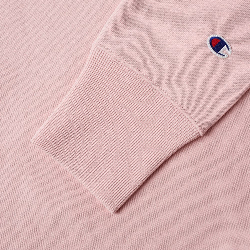 Champion Reverse Weave Script Logo Crew Sweat - Pink