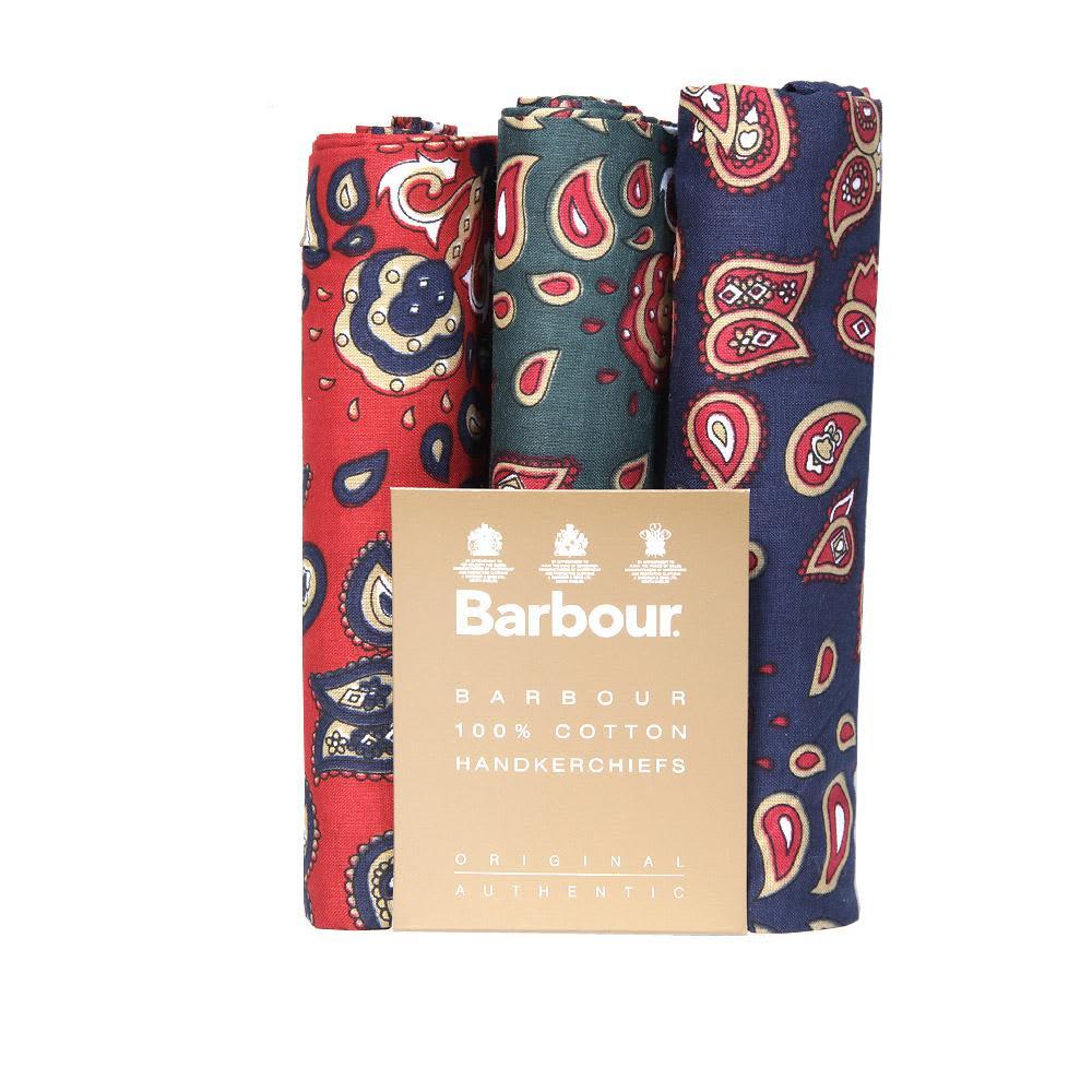 Barbour Paisley Handkerchief Set - Red, Green & Blue