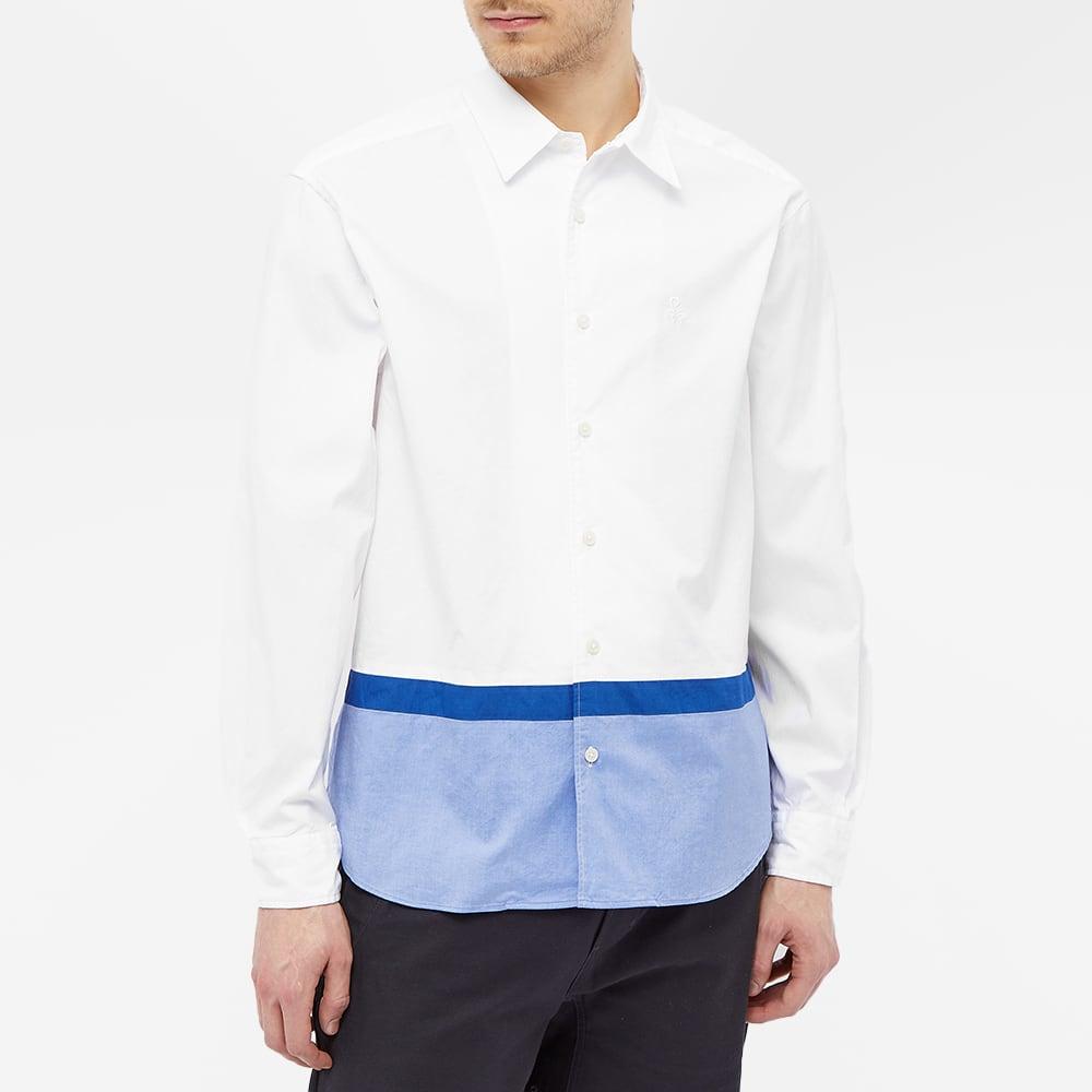 SOPHNET. Hem Panelled Collar Shirt - White