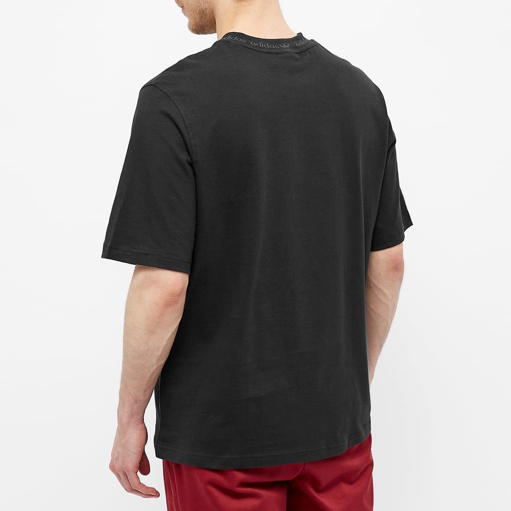 Adidas Rib Detail Tee - Black