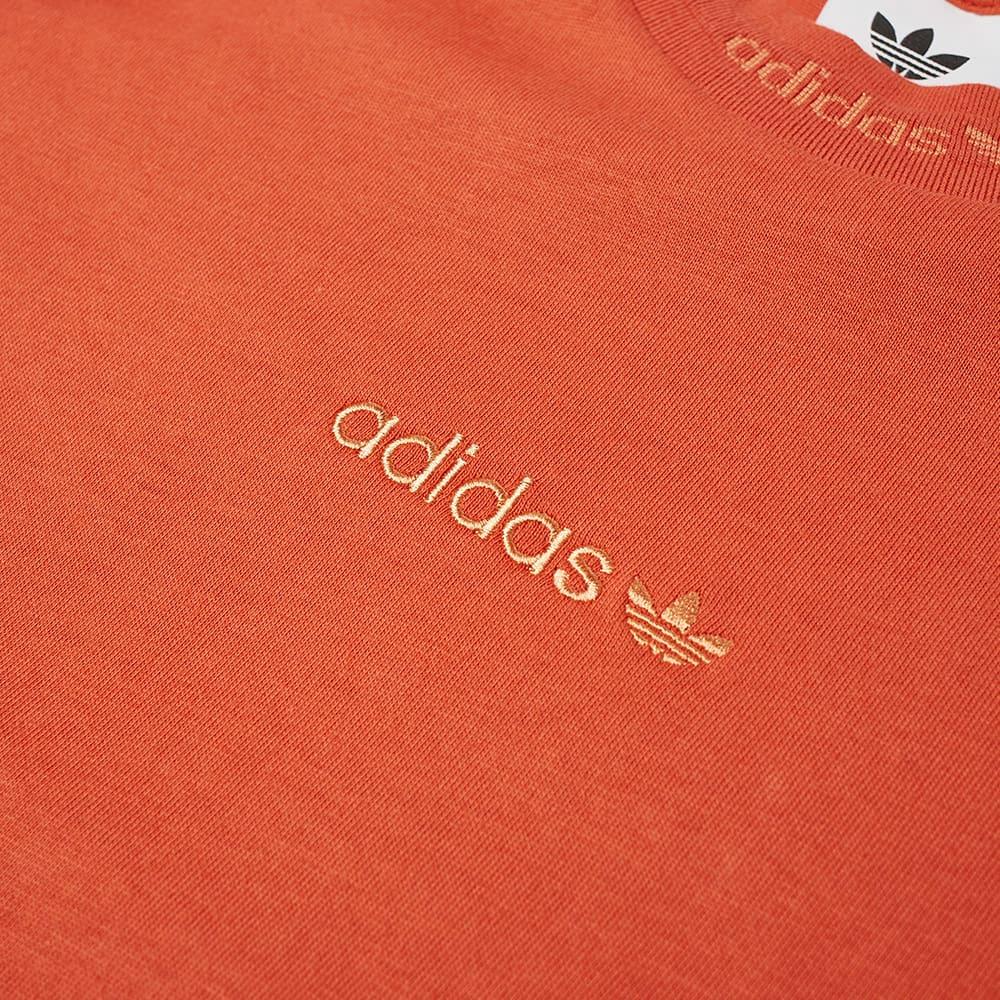Adidas Rib Detail Tee - Orange