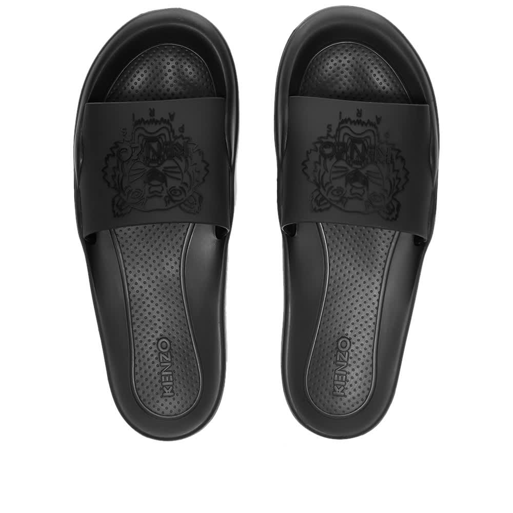 Kenzo Logo Pool Slide - Black
