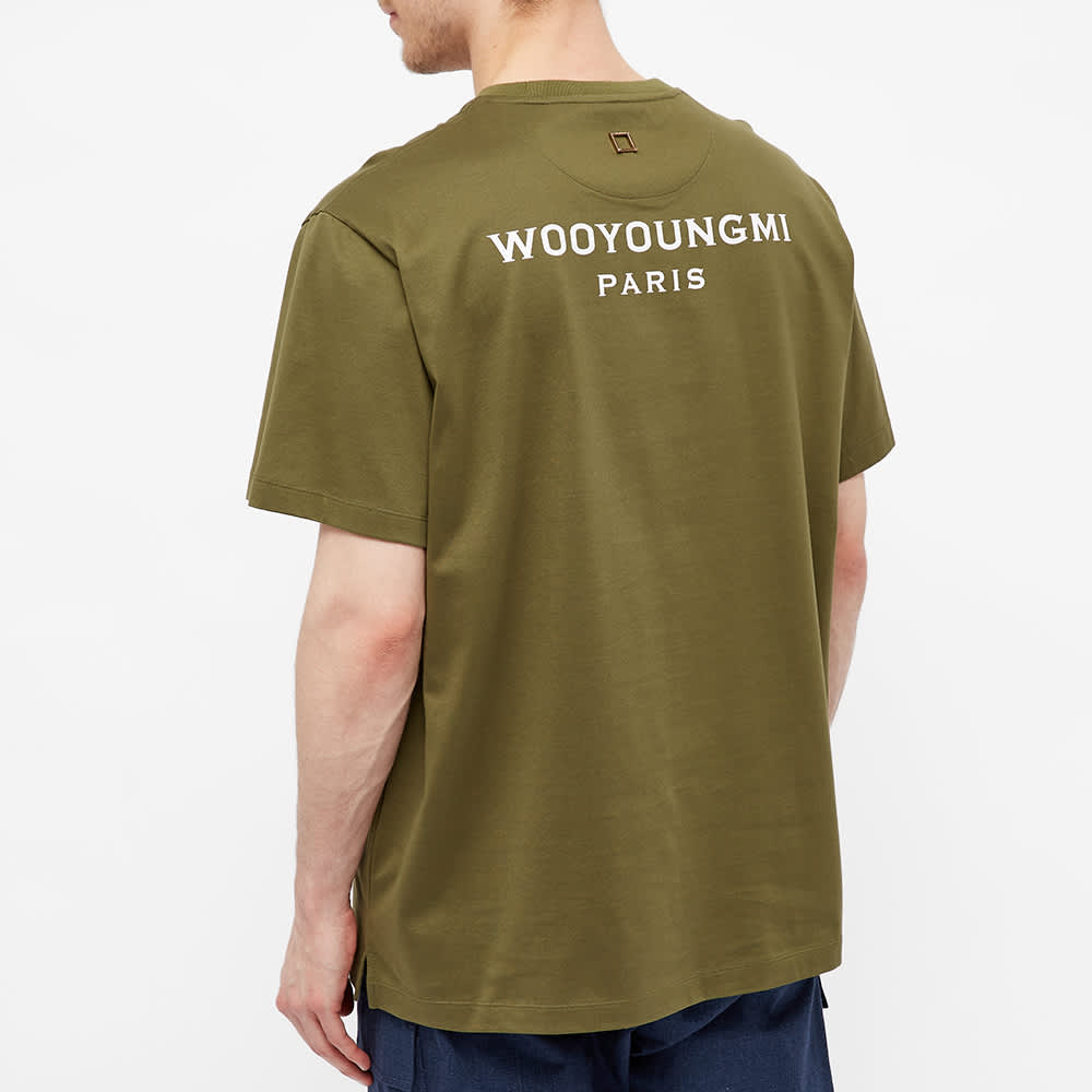 Wooyoungmi Back Logo Tee - Khaki