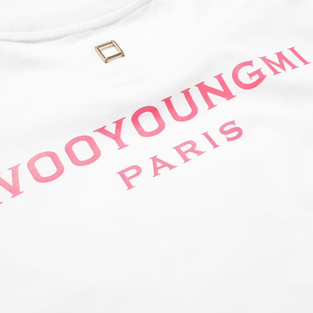 Wooyoungmi Back Logo Tee - White & Orange