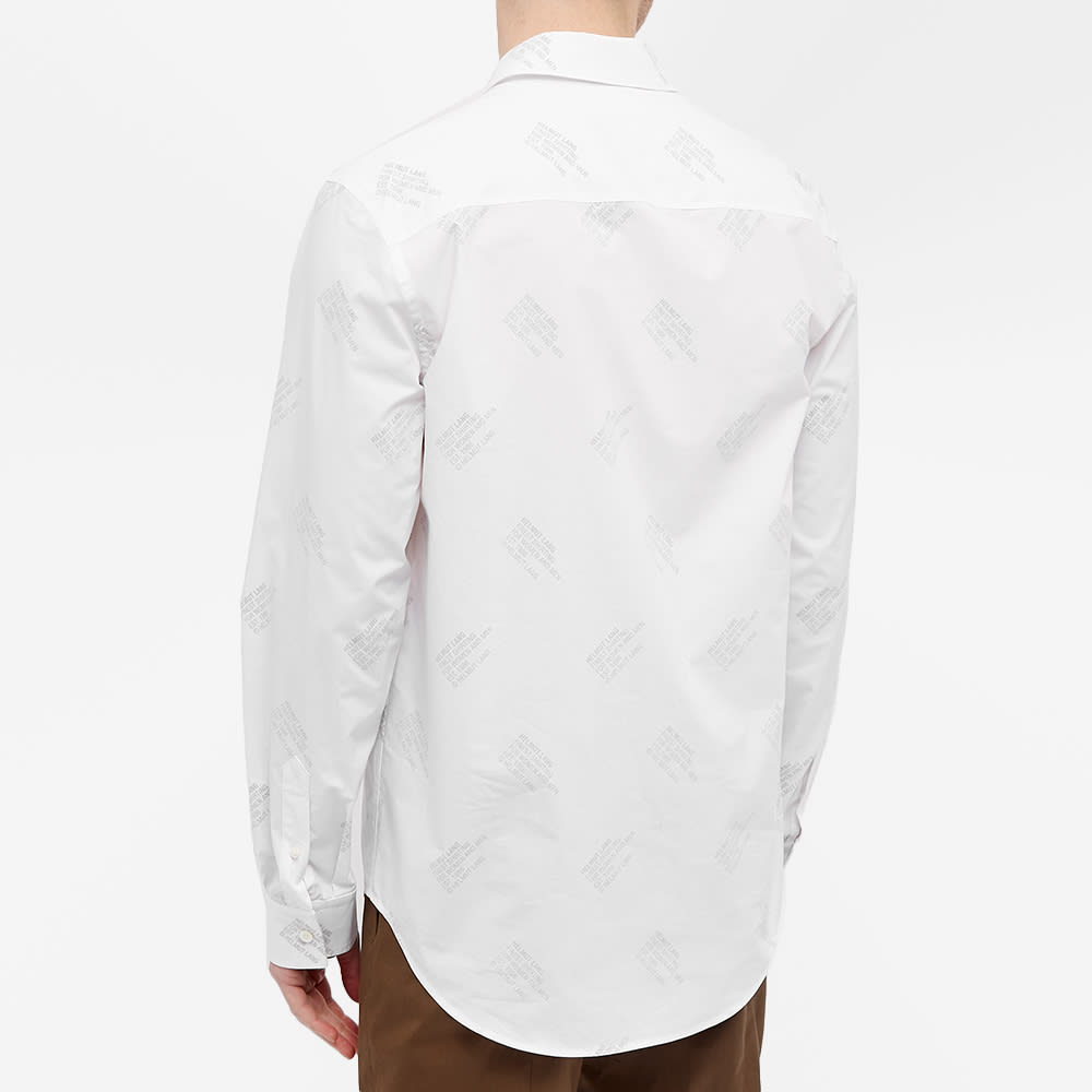Helmut Lang Logo Shirt - White & Black