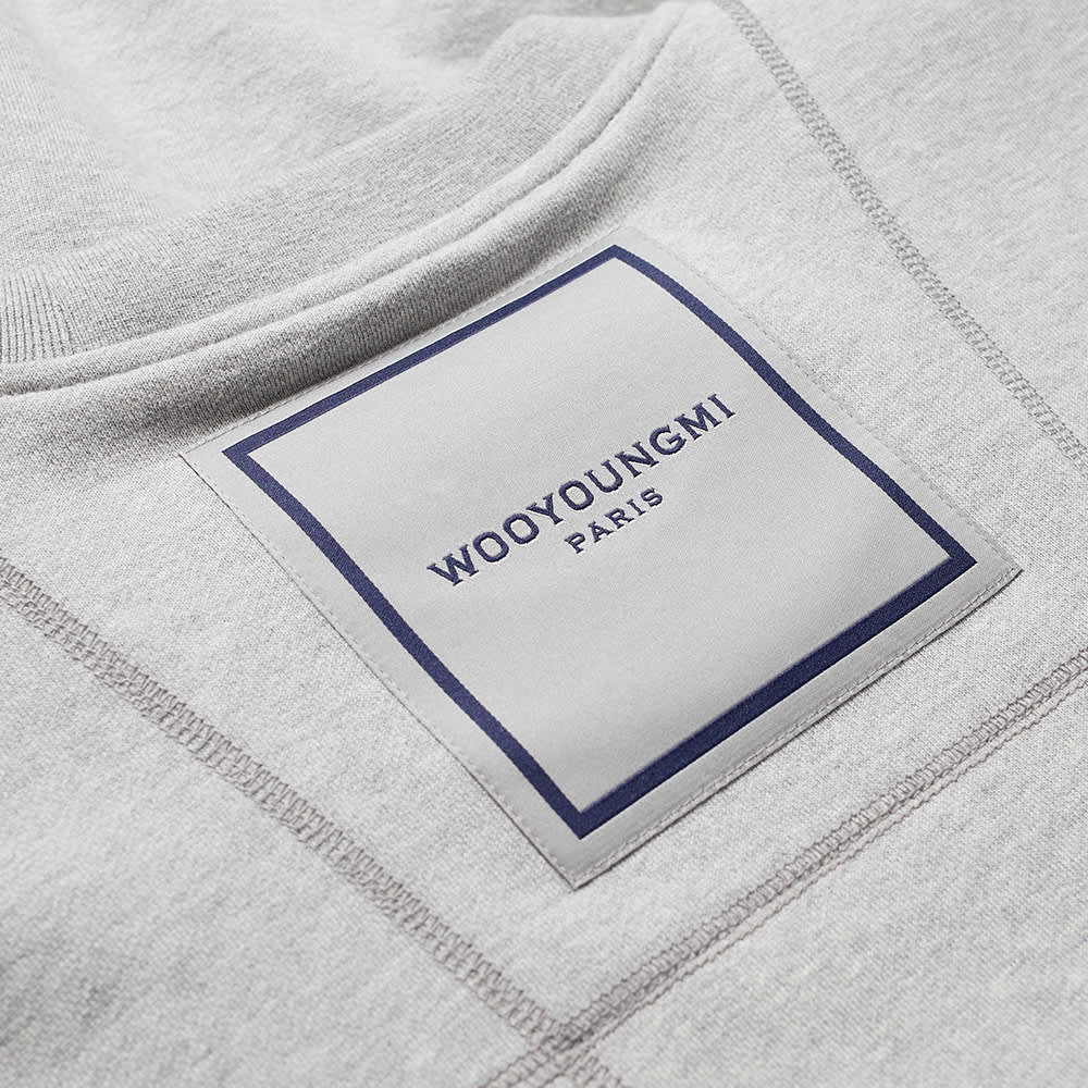 Wooyoungmi Box Logo Crewneck Sweat - Grey