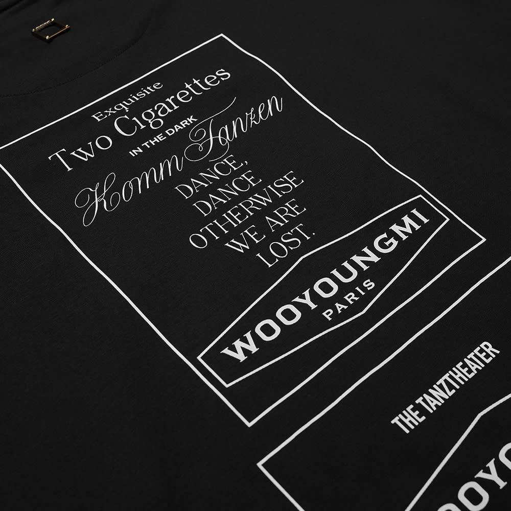 Wooyoungmi Back Ad Print Tee - Black
