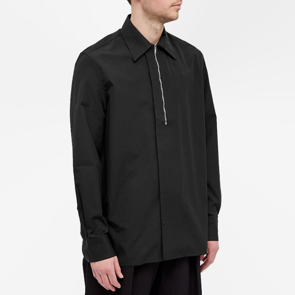 Givenchy Classic Fit Half Zip Shirt - Black