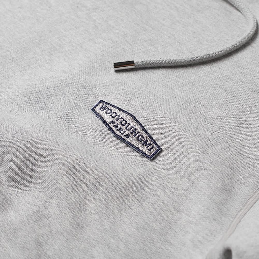 Wooyoungmi Back Logo Popover Hoody - Grey