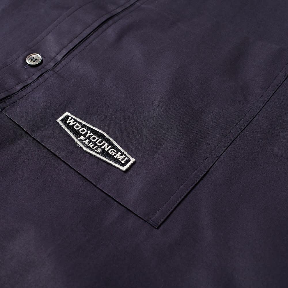 Wooyoungmi Short Sleeved Back Print Shirt - Navy