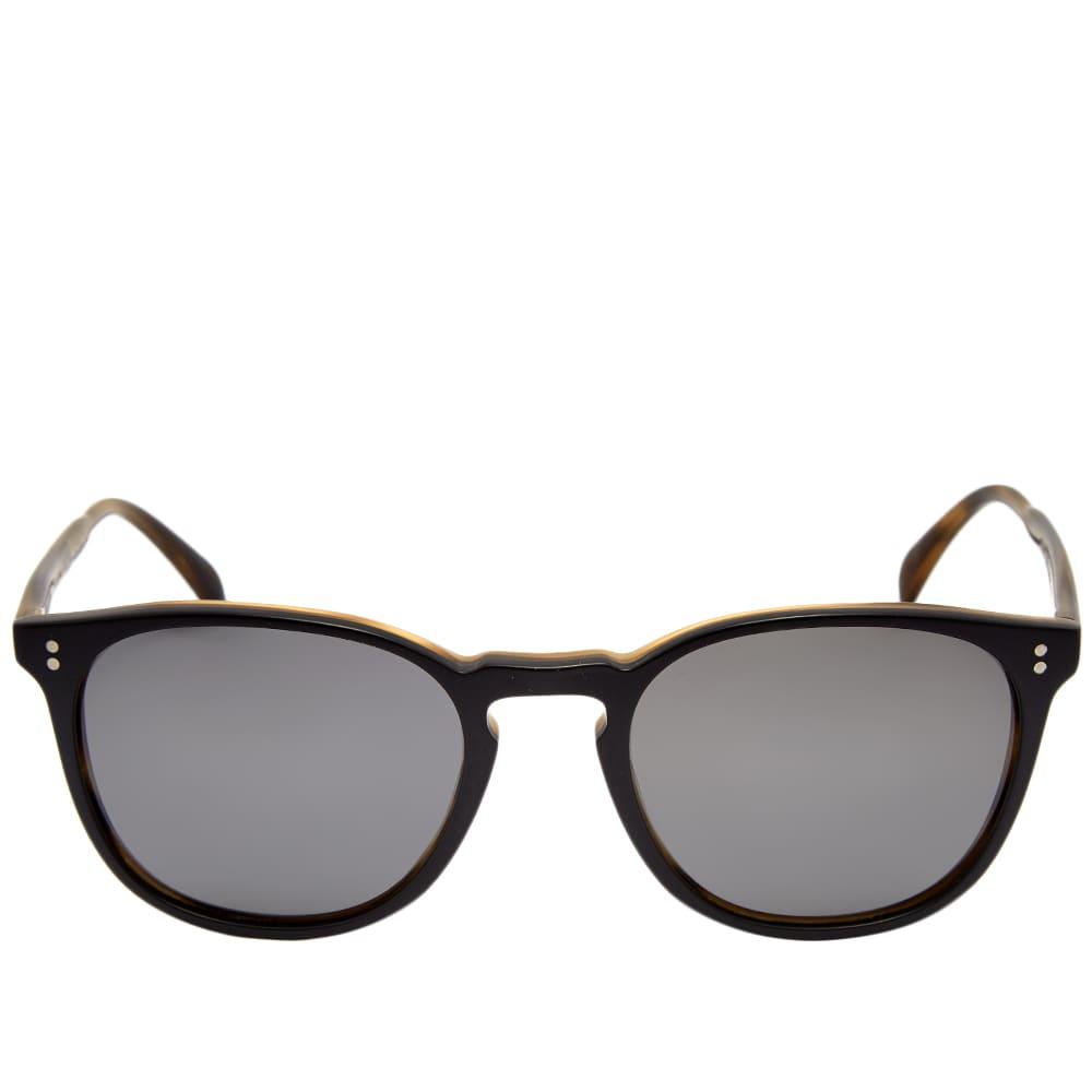 Oliver Peoples Finley Esq. Sunglasses - Semi-Matte Black & Graphite