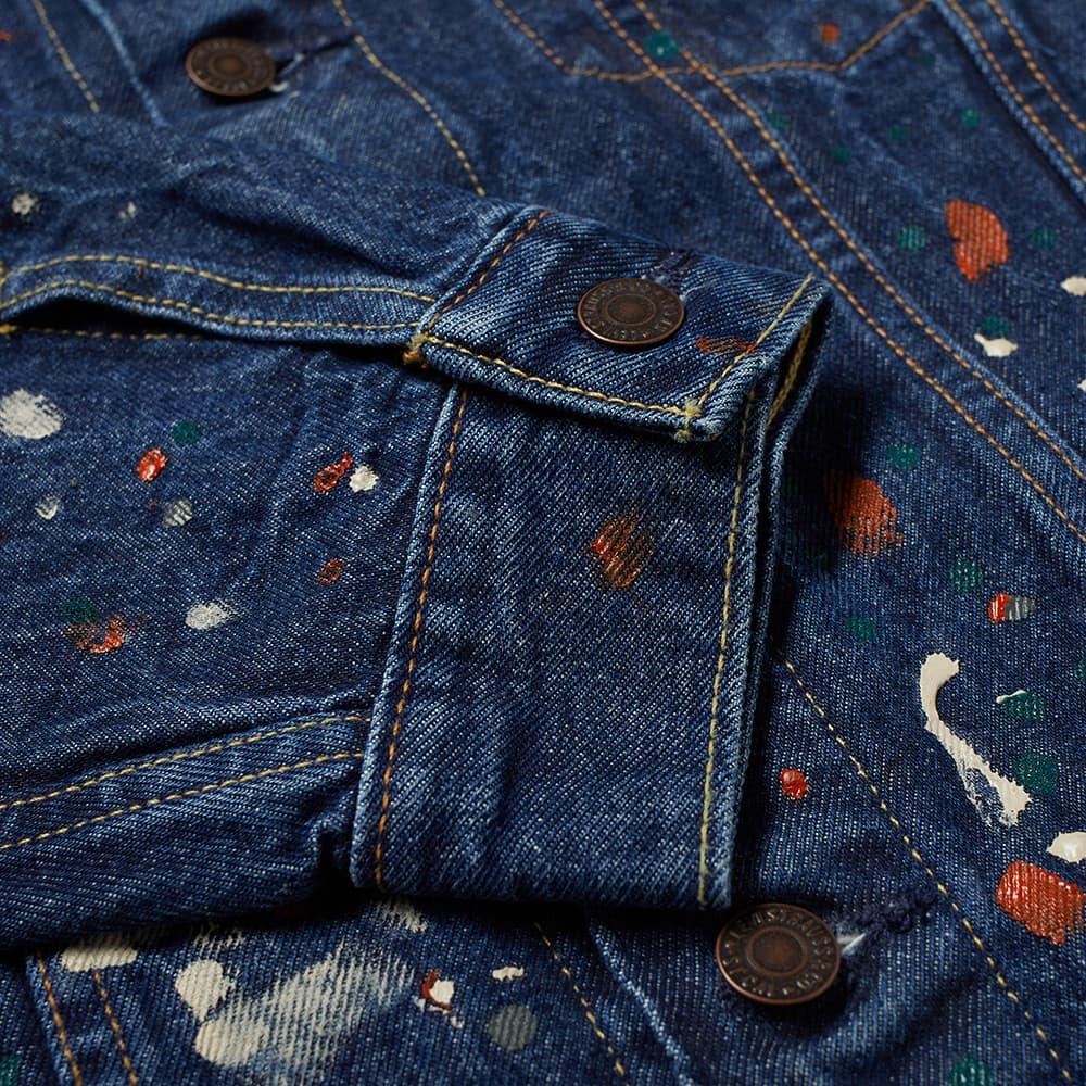 END. x Levi's® 'Painted' Selvedge Trucker Jacket - Indigo Paint Splatter