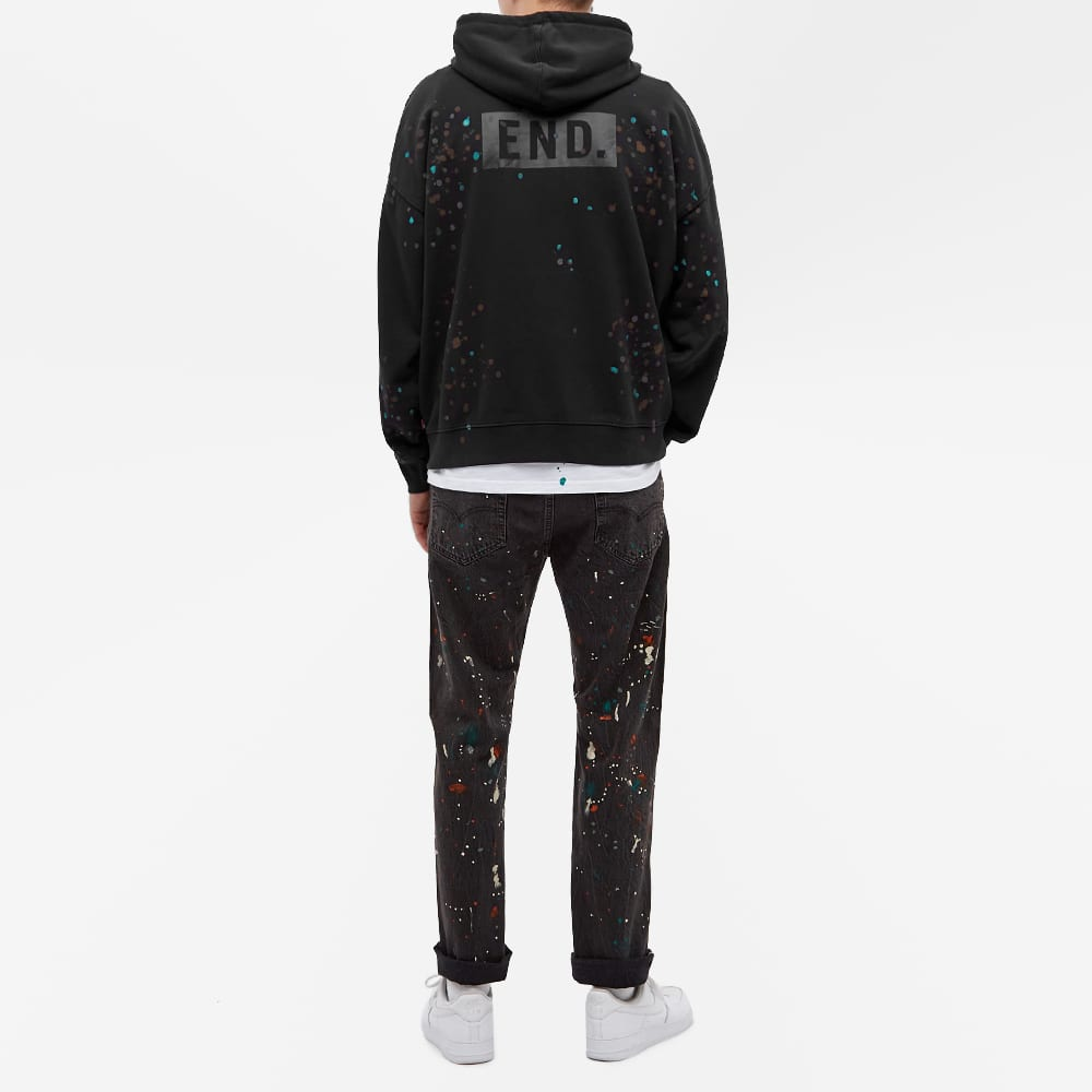 END. x Levi's® 'Painted' Graphic Hoody - Black Paint Splatter