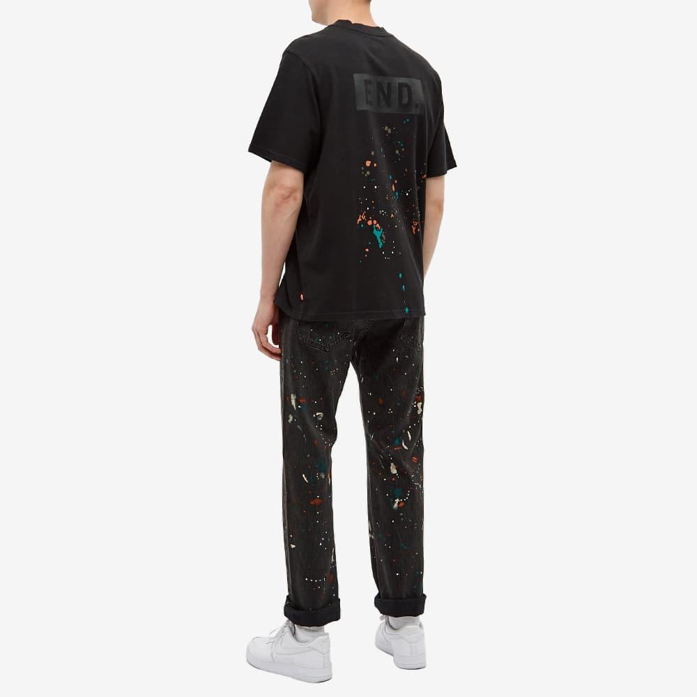 END. x Levi's® 'Painted' Logo Tee - Tonal Black
