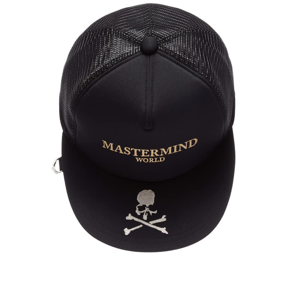 MASTERMIND WORLD Embroidered Trucker Cap - Black
