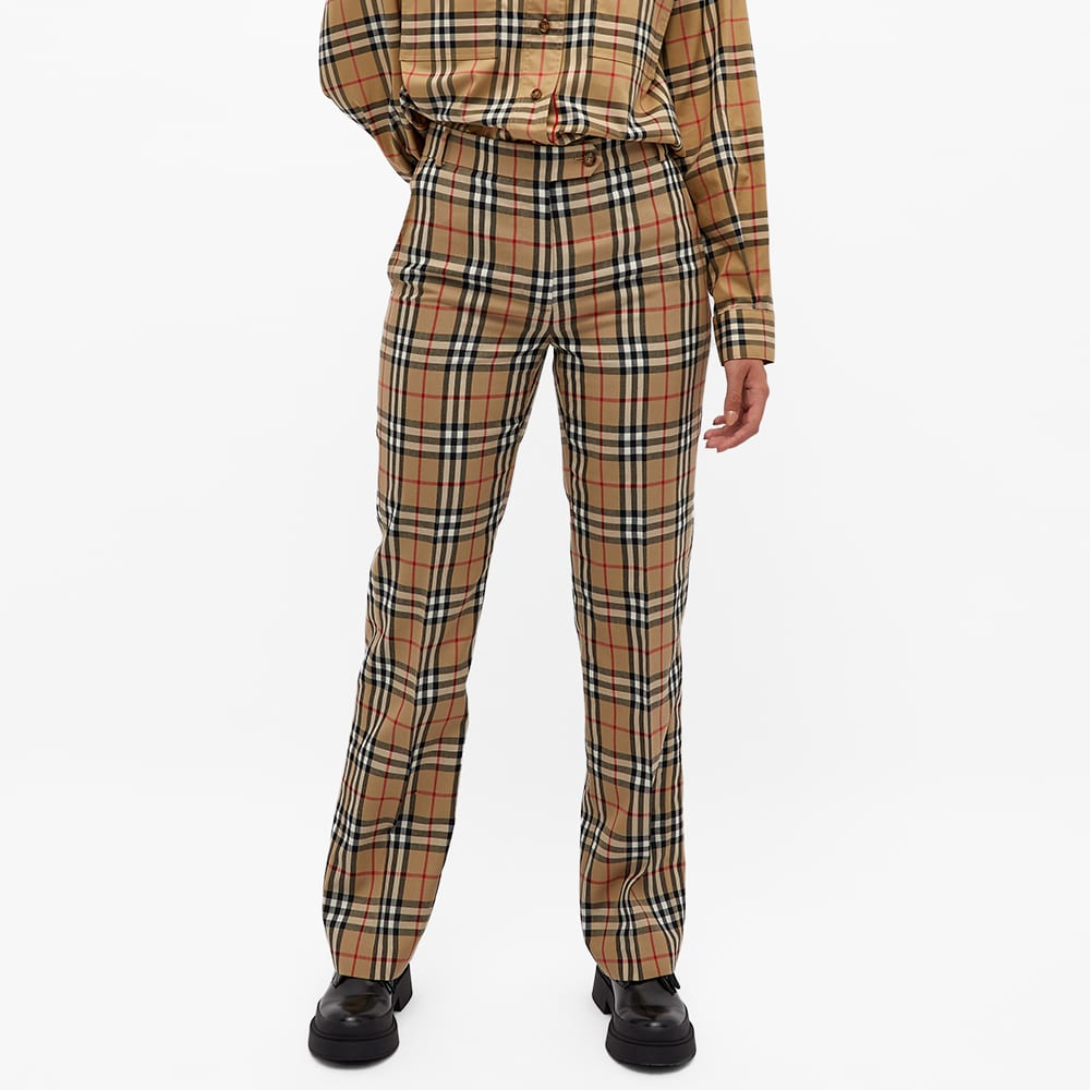 Burberry Checked Trouser - Archive Beige Check