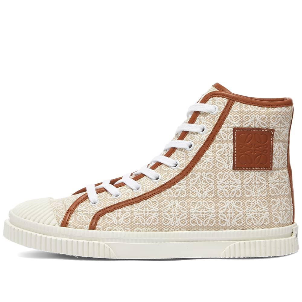 Loewe High Top Sneaker - Natural & White