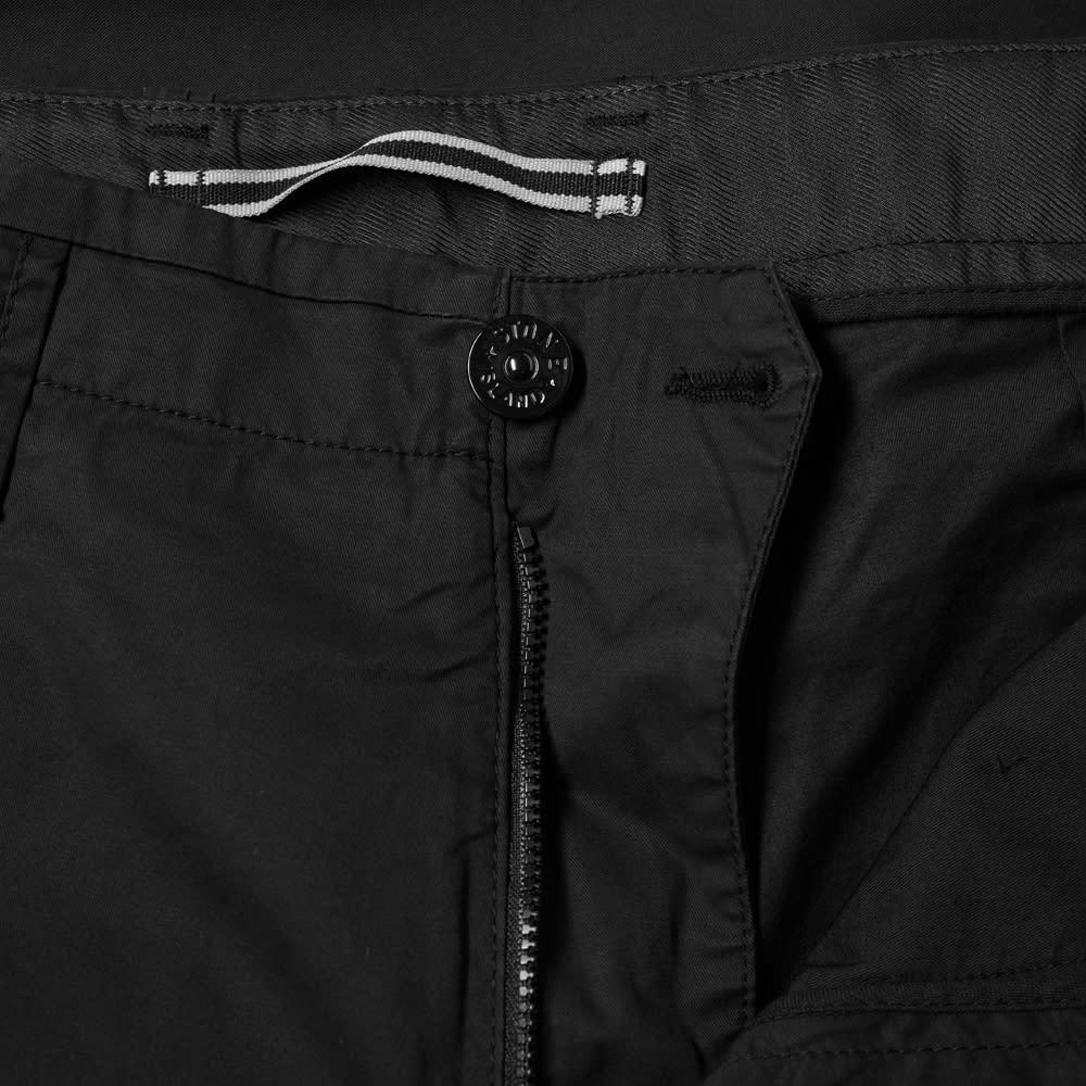 Stone Island Single Pocket Gabardine Cargo Pant - Black