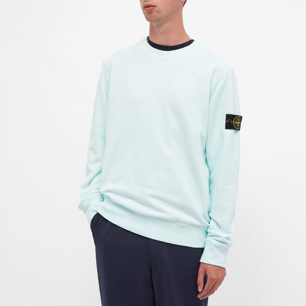 Stone Island Garment Dyed Crew Sweat - Light Green
