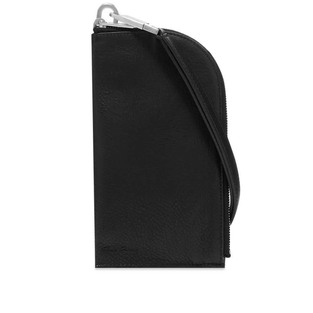 Rick Owens Neck Wallet - Black
