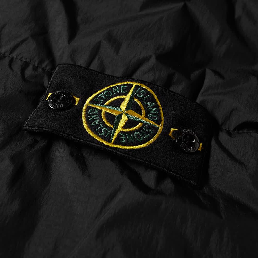Stone Island Garment Dyed Crinkle Reps Hooded Down Jacket - Black