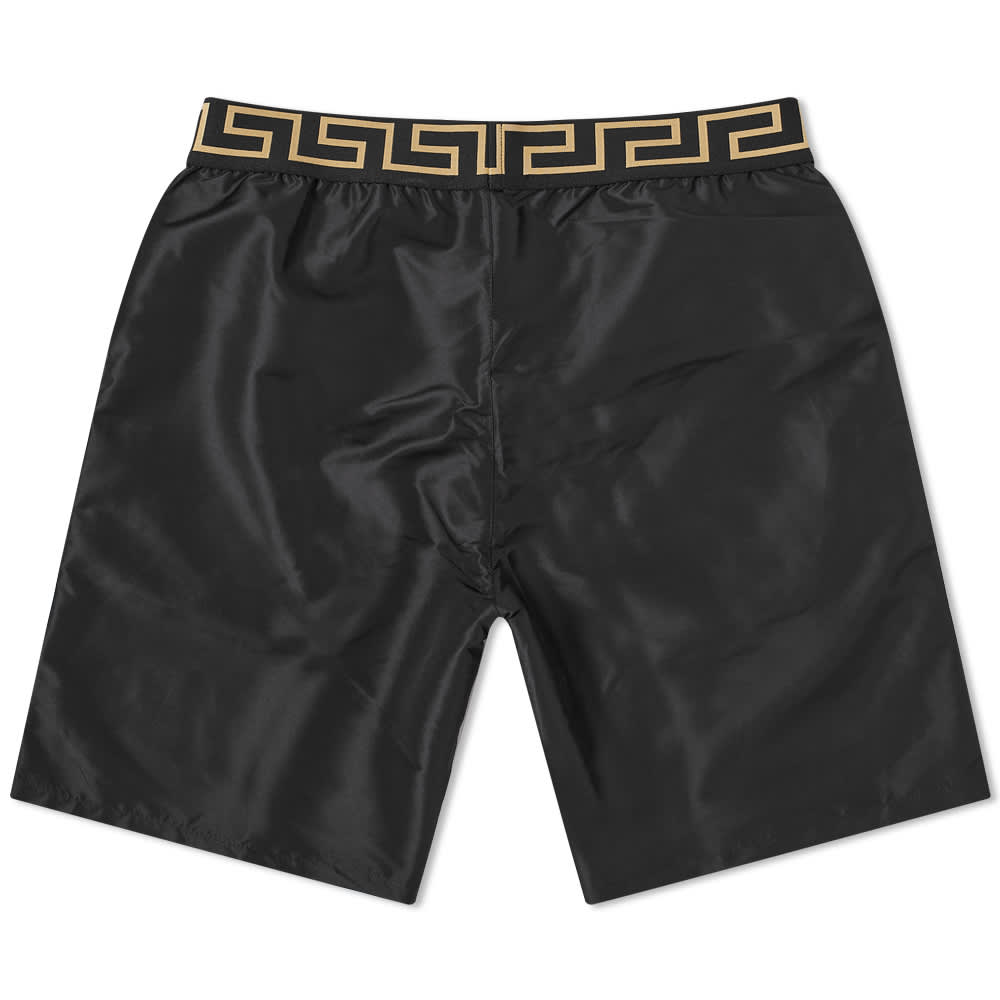 Versace Greek Logo Swimshort - Black & Gold