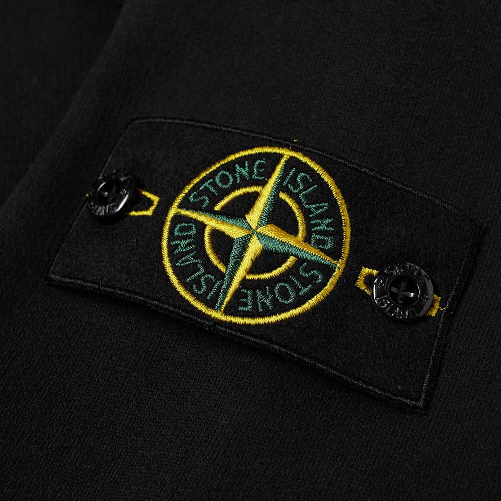 Stone Island Pocket Detail Crew Sweat - Black