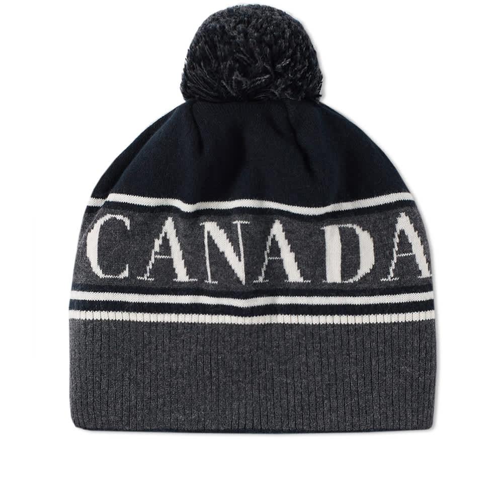 Canada Goose Logo Pom Beanie - Black