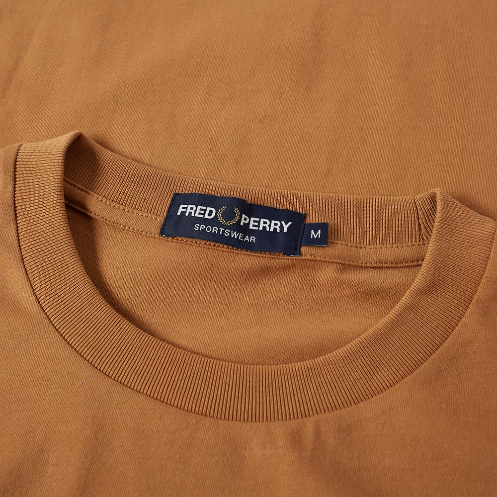 Fred Perry Embroidered Tee - Caramel